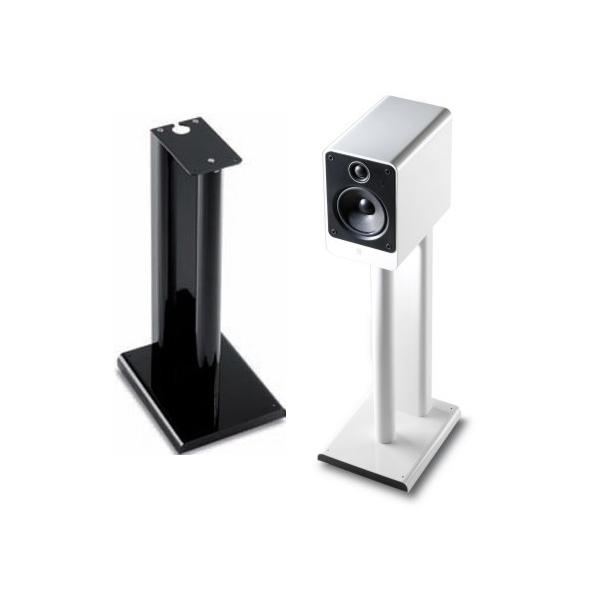 Q Acoustics 2000ST pareja de soportes de altavoz acabado brillante Negro/Blanco.