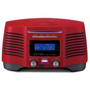 Radio CD con entrada USB, radio FM, reloj digital y lectura MP3 (en CD y USB)
