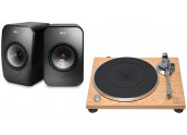 KEF LSX + Audio Technica...